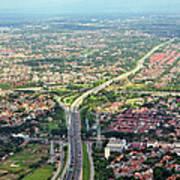 Overview Of Jakarta. Print by TeeJe