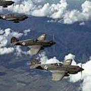 P-40 Pursuits Of The U.s. Army Air Print by Luis Marden