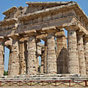 Paestum Temple Print by Paolo Modena