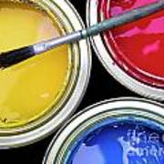 Paint Cans Print by Carlos Caetano