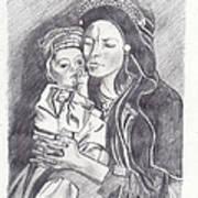 Pakistani Mother And Child Print by John Keaton