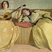 Panel For Music Room Print by John White Alexander