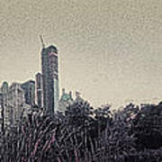 Panorama Of Central Park - Old Fashioned Sepia Print by Alex AG