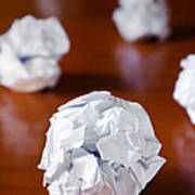 Paper Balls Print by Carlos Caetano