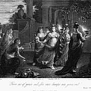 Parable Of Virgins Print by Granger