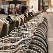 Paris Bikes Print by Igor Kislev