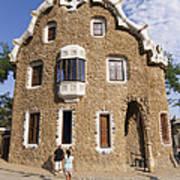 Park Guell Barcelona Antoni Gaudi Print by Matthias Hauser
