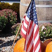 Patriotic Farm Stand Print by Kimberly Perry