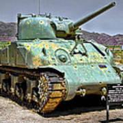 Patton M4 Sherman Print by Jason Abando