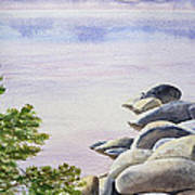 Peaceful Place Morning At The Lake Print by Irina Sztukowski