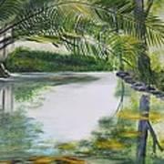 Peaceful Pond Print by Tessa Dutoit