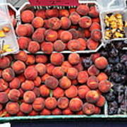 Peaches And Plums - 5d17913 Print by Wingsdomain Art and Photography