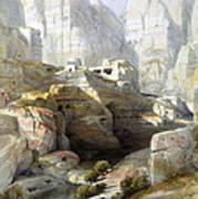 Petra March 10th 1839 Print by Munir Alawi