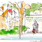 Philadelphia Park Print by Marilyn MacGregor