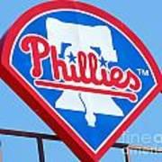 Phillies Logo Print by Carol Christopher
