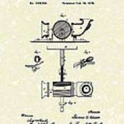Phonograph 1878 Patent Art  Print by Prior Art Design