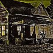 Photos In An Attic - Homestead Print by Leslie Revels Andrews