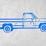 Pick Up Truck Print by Naxart Studio