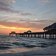 Pier 60 Clearwater Beach Florida Print by Bill Cannon