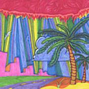 Pink City Print by James Davidson