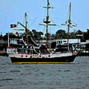 Pirate Ship Of The Matanzas Print by DigiArt Diaries by Vicky B Fuller