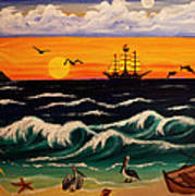 Pirate's Cove Print by Adele Moscaritolo