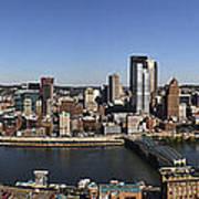 Pittsburgh Panoramic Print by Teresa Mucha