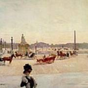 Place De La Concorde - Paris  Print by Georges Fraipont