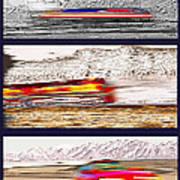 Planes Trains Automobiles Triptych Print by Steve Ohlsen