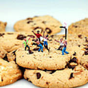 Playing Basketball On Cookies Print by Paul Ge