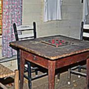 Playing Checkers Print by Susan Leggett