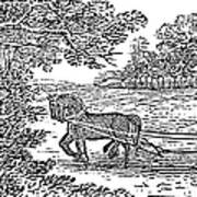 Ploughing, 19th Century Print by Granger