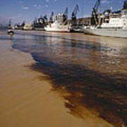 Polluted Water, Rio De La Plata Print by Bernard Wolff