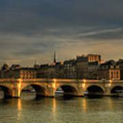 Pont Neuf  At Sunset, Paris, France Print by Avi Morag photography