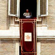 Pope Benedict Xvi B Print by Andrew Fare