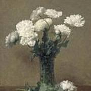 Poppies Print by Ignace Henri Jean Fantin-Latour