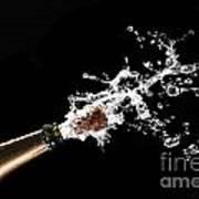 Popping Champagne Cork Print by Gualtiero Boffi