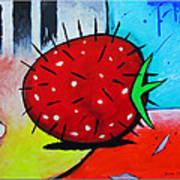 Porcupine Strawberry Print by Snake Jagger