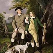 Portrait Of A Sportsman With His Son Print by Francis Wheatley