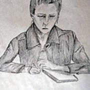 Portrait Of Haley Golz Print by Jana Barros