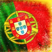 Portugal Flag  Print by Setsiri Silapasuwanchai