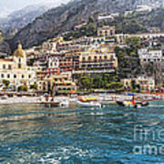 Positano Seaside View Print by George Oze