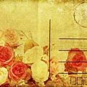 Postcard With Floral Pattern Print by Setsiri Silapasuwanchai