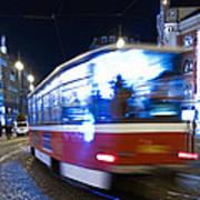 Prague Tram Print by Stelios Kleanthous