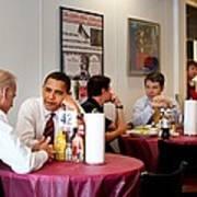 President Obama And Vp Joe Biden Wait Print by Everett