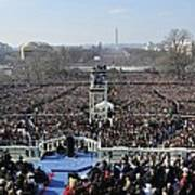 President Obama Delivers His Inaugural Print by Everett