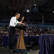 President Obama Promotes Health Care Print by Everett