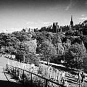 Princes Street Gardens Edinburgh Scotland Uk United Kingdom Print by Joe Fox