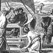 Publius Claudius Pulcher And The Sacred Print by Photo Researchers