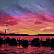 Punta Gorda Sunset Print by Sandy Poore